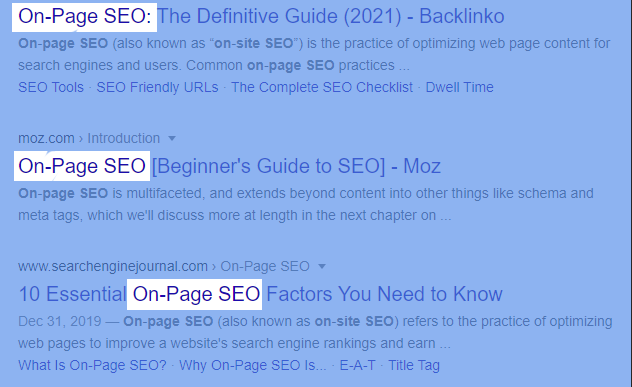 Front-Load your Keywords