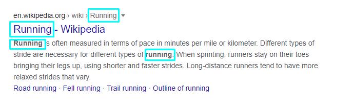 Running Wikipedia article
